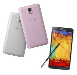The Galaxy Note 3 will come in pink, as well as black and white.